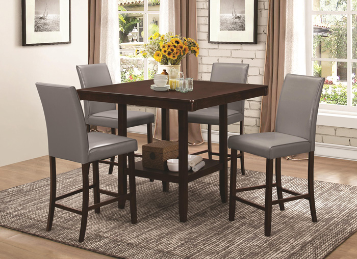 Fattori square counter height table and chair set 105308 corporate fattori square counter height table and chair set 105308 watchthetrailerfo